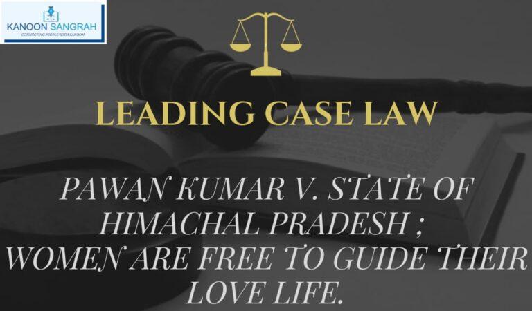 Pawan Kumar V. State of H.P (High Court Of Himachal Pradesh)