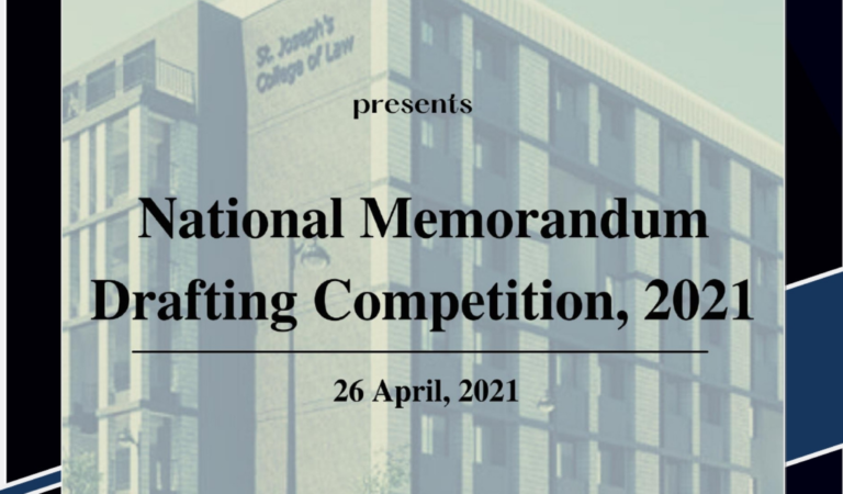 SJCL National Memo Drafting Competition, 2021' in collaboration with Law Essentials: Register by 28th March 2021