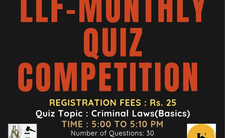 Quiz competition by LEGALEAGLE LAW FORUM