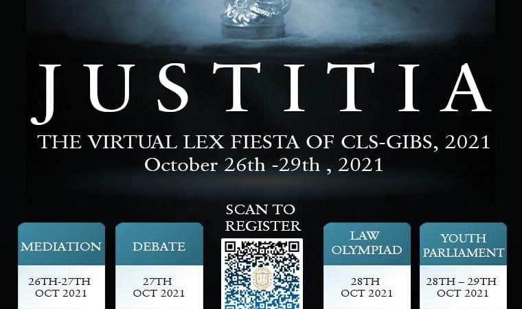 "JUSTITIA"": The Virtual Lex Fiesta @Centre for Legal Studies"